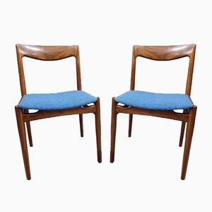 Dänische Palisander Esszimmerstühle, 1960er, 2er Set
