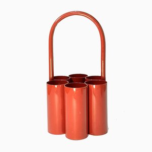 Space Age Red Bottle Caddy or Carrier, 1960s