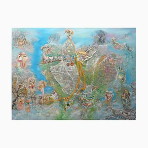 Chinese Contemporary Art, Abstract, Galaxy Vergnügungspark von Liu Guoyi