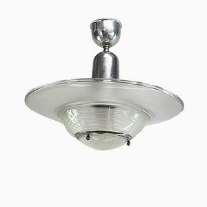 Vintage Art Deco Industrial Ceiling Lamp from Holophane
