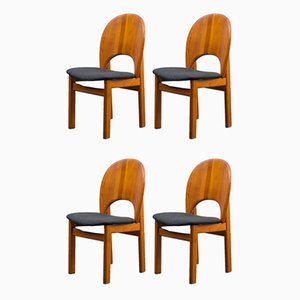 Reupholstered Teak Chairs from Glostrup, 1970s, Set of 4
