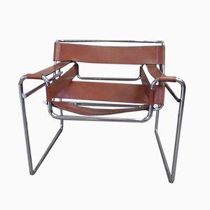 Modell 0393 Wassily Armlehnstuhl von Marcel Breuer für Gavina, 1960er