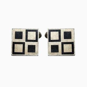 Vintage Silver Cufflinks by Magnus Steffensen for Georg Jensen, Set of 2