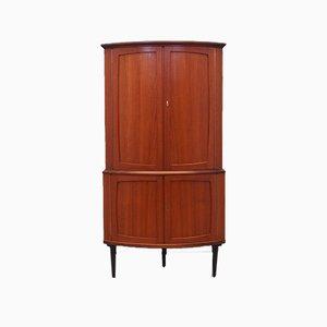 Danish Mahogany Corner Cabinet, 1970s