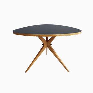Table Basse Triangle Noire avec Pieds Araignée, 1960s