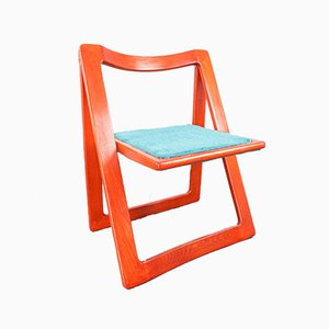 Vintage Trieste Folding Chair by Aldo Jacober for Bazzani, 1970s