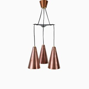 Lampe à Suspension en Cuivre par Hans-Agne Jakobsson