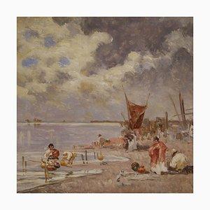 Paesaggio marino luminoso, Firmato, XX secolo