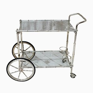 Vintage French Faux Bamboo Drinks Cart