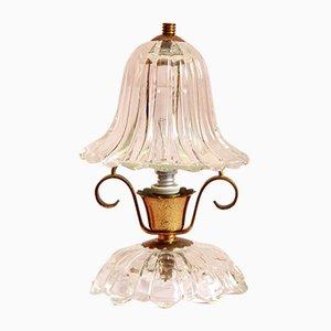 Mid-Century Italian Murano Glass Campanellino Table Lamp, 1940s