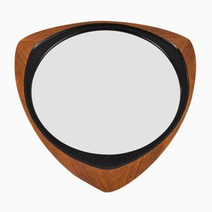 Black Ebonised Inlay & Teak Mirror from Glas & Tra Hovmantorp, 1950s