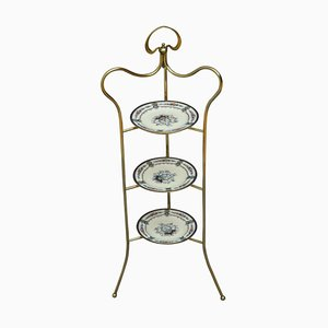 Art Nouveau Brass Fruit or Cake Stand