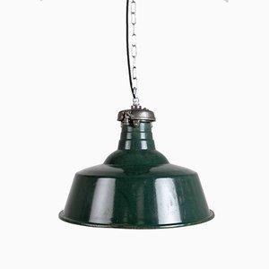 Große emaillierte Lampen von Simplex