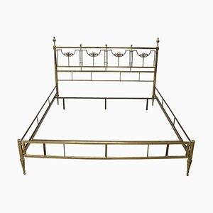 Goldenes Vintage Bett aus Messing, 1980er