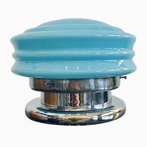 Blaue Vintage Tischlampe aus Muranoglas, 1970er