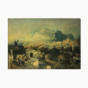 Capri, Posillipo School, Oil on Canvas