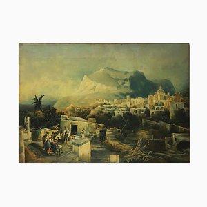 Capri, Posillipo Schule, Öl auf Leinwand