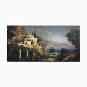 Amalfi Coast, Posillipo School, Oil on Canvas