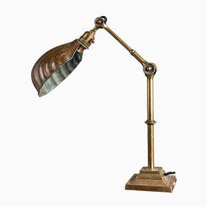 Messing Schreibtischlampe von Dugdills