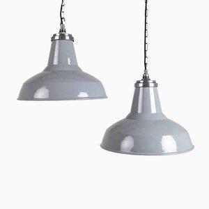 Große Emaille Lampe von Thorlux