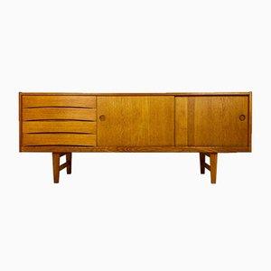 Dänisches Eichenholz Sideboard, 1960er