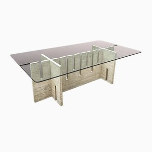 Large Italian Dining Table by Carlo Scarpa for Fratelli Saporiti