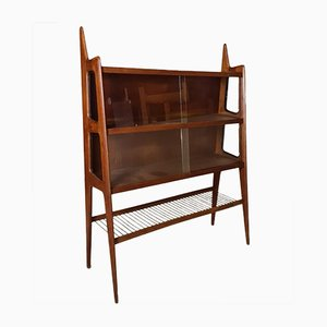 Teak Wall Unit by Pierre Cruège, 1950s