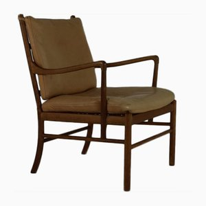 Chaise Coloniale par Ole Wanscher pour Poul Jeppesens Møbelfabrik, Danemark