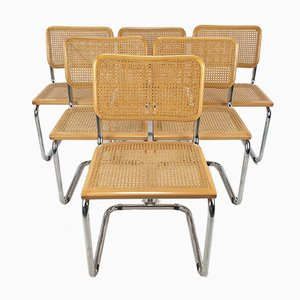 Italian B32 Chairs by Marcel Breuer for Thonet, Set of 6