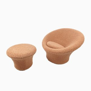 Mushroom Armchair and Ottoman by Pierre Paulin for Artifort, 1960s, Set of 2