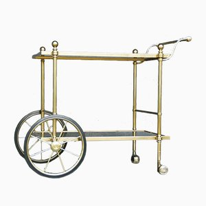 Smoked Glass and Brass Bar Cart, 1970s