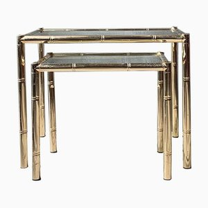 Mid-Century French Maison Baguès Style Nesting Tables, Set of 2