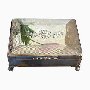 English Silver-Plated Cigarette Box, 1950s