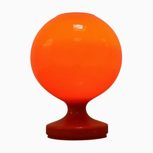 Red Glass Table Lamp by Stefan Tabery for Efa, 1960s