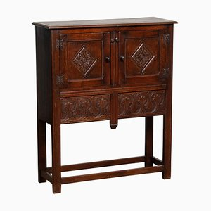Renaissance Style Southern European Carved Dry Bar or Drinks Cabinet, 1920s