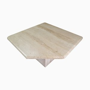 Post-Modern Travertine Side or Coffee Table, Italy, 1970s