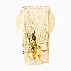 Schmelzglas Tischlampe mit 4 Blütenblättern von JT Kalmar