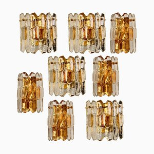 Palazzo Wall Light Fixtures in Gilt Brass and Glass from Kalmar