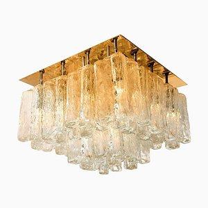 Austrian Glass & Brass Granada Wall Light by Kalmar for Isa, 1960s