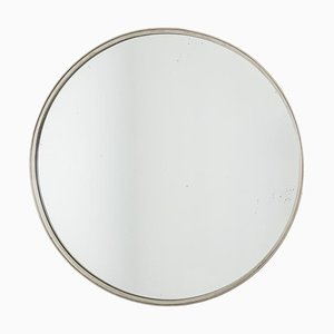 Silver Plated Brass Mirror, 1970s