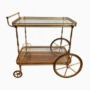 Neoclassical Golden Brass Bar Cart