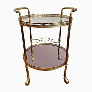 Neoclassical Brass Bar Cart