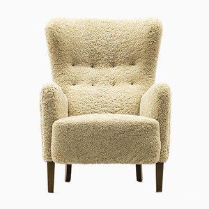 Frits Henningsen Style Wing Back Chair