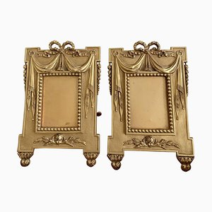 French Napoleon III Gilt Bronze Ormolu Picture Frames, Set of 2