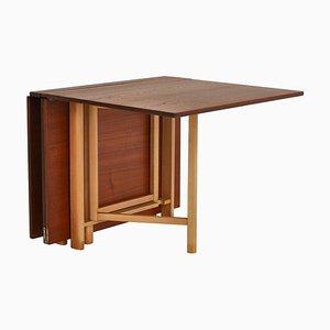 Teak 'Maria Flap' Folding Table by Bruno Mathsson for Firma Karl Mathsson, 1950s