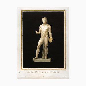 Augustine Tofanelli, Diskuswerfer oder Ruzzola Spieler, Radierung, 1794