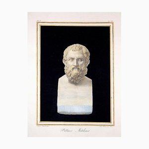 Augustine Tofanelli, Pittacus Mitileneo, Original Etching, 1821