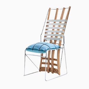 Sedia Cadeira Azul di Paulo Goldstein Studio