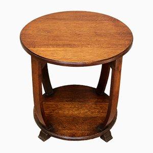 Table d'Appoint Art Deco en Chêne