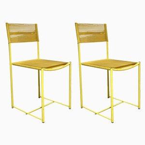 Yellow Spaghetti Dining Chair by Giandomenico Belotti for Alias, 1980s, Set of 2